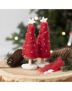 Een kerstboom bedekt met XL dik garen