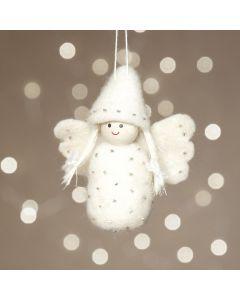 Naaldvilt een engel op een styropor ei