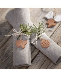 Kerstdecoraties van zelfhardende klei