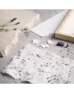 How to make handmade paper with card and dried lavender