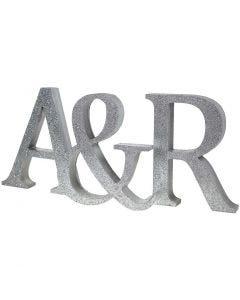 Geverfde initialen met glitter