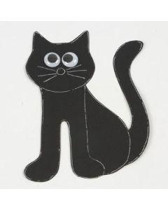 Een zwarte kat van karton