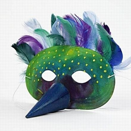 Masker voor de Koning van de vogels