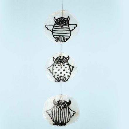 Owls on shells