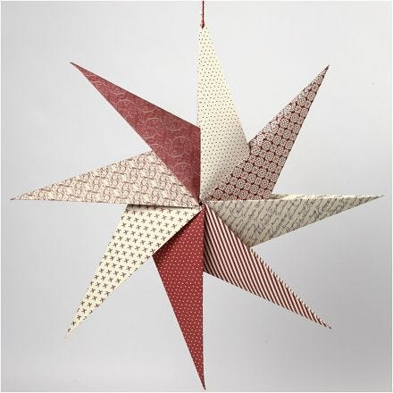 Origami ster van handgemaakt papier