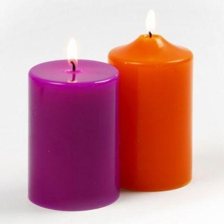 Dikke kaarsen van Parafine Wax