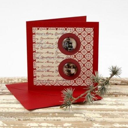Een kerstkaart van Vivi Gade Design karton met cabochon