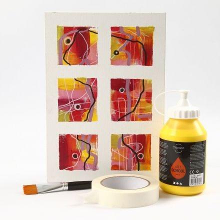 Schilderstape op canvas