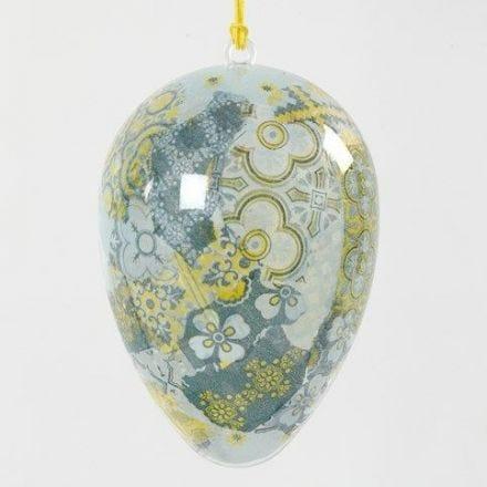 Een transparant ei met Decoupage aan de binnenkant