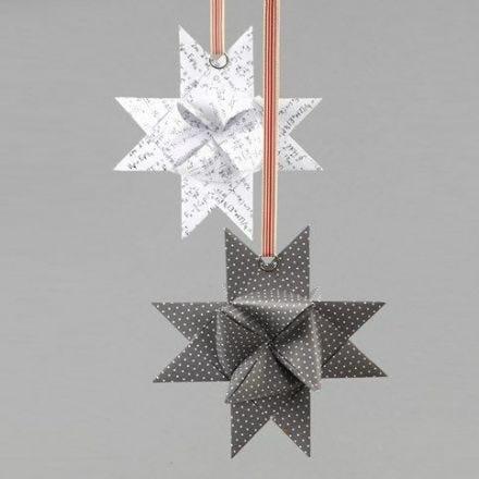 Een splitring op een gevlochten ster van Vivi Gade Design papier