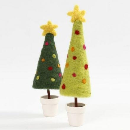 Genaaldvilte kerstboom met sterren