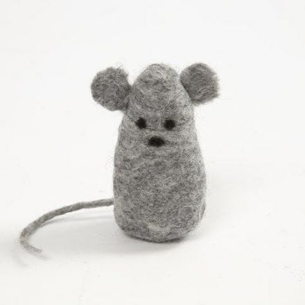 Een muis gemaakt door natvilten