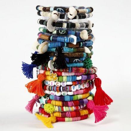 Armband gemaakt van Katsuki kralen en tassels