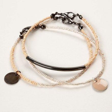 Armbanden van sieradendraad met Rocaille kralen en hangers