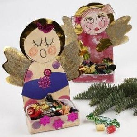 Engelen met snoepjes