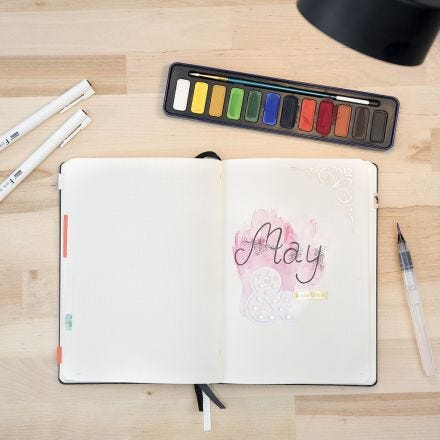 Bullet Journal met aquarelverf
