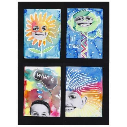 Aquarel portretten met Aqua Paint markers