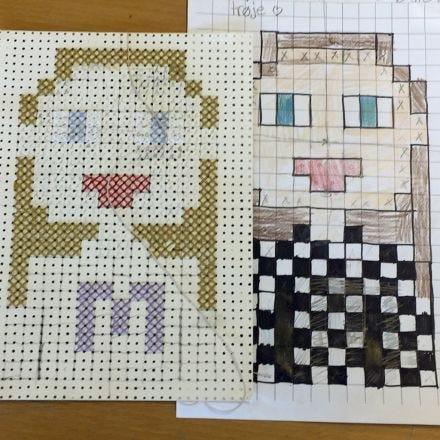 Pixel Art met kruissteken