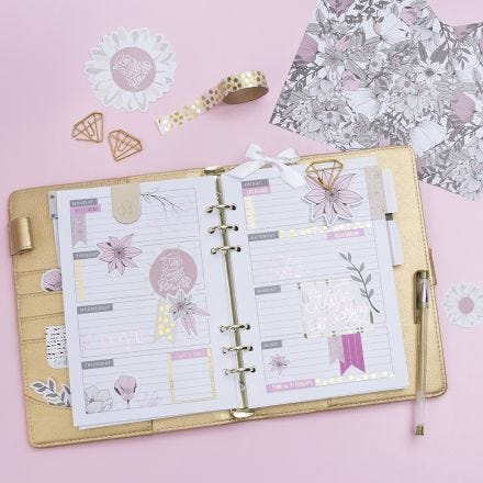 Gedecoreerde 5 week planner voor Bullet journal en kalender