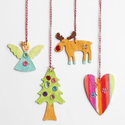 Hangende kerstdecoraties met strasstenen