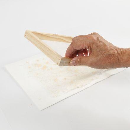 Hoe maak je handgeschept papier met glitter?