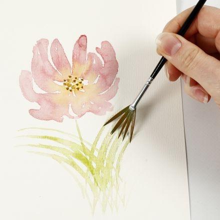 Hoe aquarelleren met lichte penseelstreken