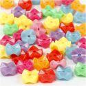 Figurenmix, d: 9,5 mm, gatgrootte 1,5 mm, diverse kleuren, 125 ml/ 1 doos, 75 gr