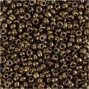Rocailles, d: 3 mm, afm 8/0 , gatgrootte 0,6-1,0 mm, brons, 25 gr/ 1 doos