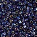 Rocailles, d: 4 mm, afm 6/0 , gatgrootte 0,9-1,2 mm, blauw glans, 25 gr/ 1 doos
