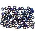 Rocailles, d: 4 mm, afm 6/0 , gatgrootte 0,9-1,2 mm, blauw glans, 500 gr/ 1 doos