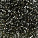 Rocailles, d: 4 mm, afm 6/0 , gatgrootte 0,9-1,2 mm, helder grijs, 25 gr/ 1 doos