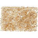 Rocailles, d: 1,7 mm, afm 15/0 , gatgrootte 0,5-0,8 mm, peach, 500 gr/ 1 zak