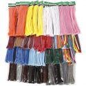 Chenilledraad, dikte 6-15 mm, diverse kleuren, 43x10 doos/ 1 doos