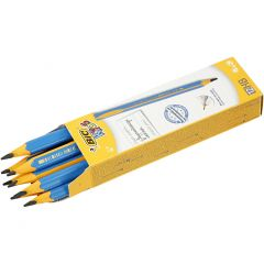 Potloden, L: 14 cm, dikte 10 mm, vulling 4 mm, 12 stuk/ 1 doos