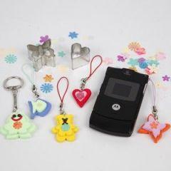 Schattige figuren voor de mobiele telefoon