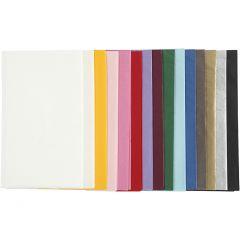 Tissuepapier, 50x70 cm, 17 gr, diverse kleuren, 15x2 vel/ 1 doos