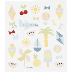 Stickers, zomervakantie, 15x16,5 cm, 1 vel