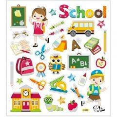 Stickers, school, 15x16,5 cm, 1 vel