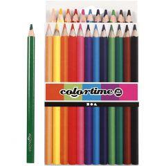 Colortime kleurpotloden, L: 17,45 cm, vulling 5 mm, JUMBO, diverse kleuren, 12 stuk/ 1 doos