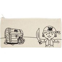 Etui, piraten, afm 21x9 cm, 245 gr, licht naturel, 1 stuk