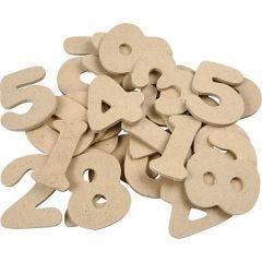 Cijfer, H: 4 cm, dikte 2,5 mm, 30 stuk/ 1 doos