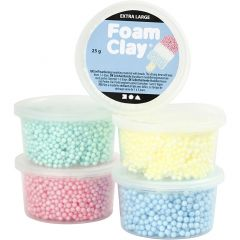 Foam Clay Extra Large, diverse kleuren, 5x25 gr/ 1 doos