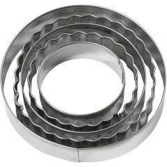 Uitsteekvormen, cirkel, afm 8 cm, 5 stuk/ 1 doos