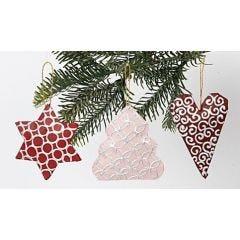 Hangende Kerst Decoraties van papier-mâché