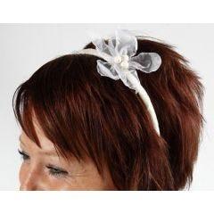 Prachtige haarband met organza bloem