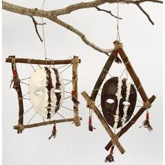 Ingelijste Afrikaanse maskers