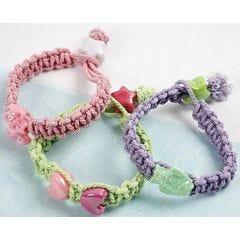 Macramé Pastel armbanden