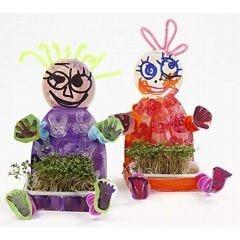 Vrolijke, lente-verse waterkers kinderen