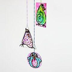 Hangende glas decoraties