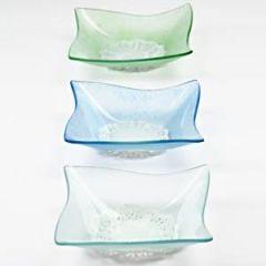 Frosted glazen schalen